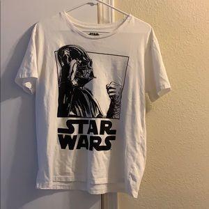 White and Black Star Wars T-Shirt